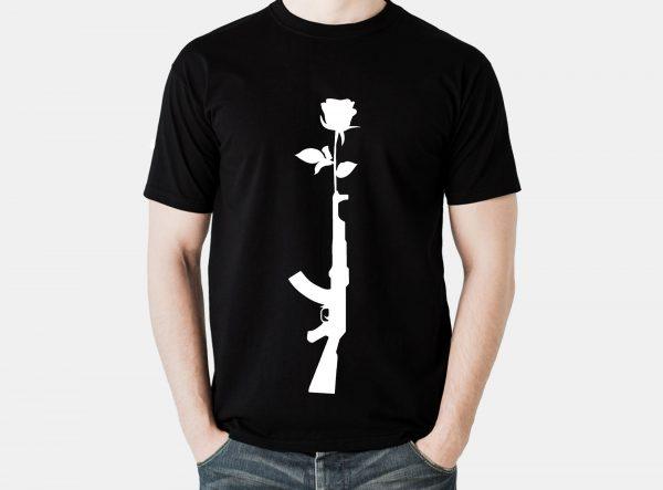 تیشرت اسلحه گل رز